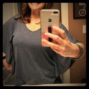 Denim color blue wing shirt-Pleione- USED